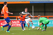 Forest Green Rovers Elliott Frear (11) attempts to reach the ball during the Vanarama National League match between Braintree Town and Forest Green Rovers at the Amlin Stadium, Braintree, United Kingdom on 24 September 2016. Photo by Shane Healey.