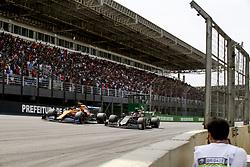 November 17, 2019, Sao Paulo, Brazil: Motorsports: FIA Formula One World Championship 2019, Grand Prix of Brazil, .#4 Lando Norris (GBR, McLaren F1 Team), .#20 Kevin Magnussen (DEN, Rich Energy Haas F1 Team) (Credit Image: © Hoch Zwei via ZUMA Wire)