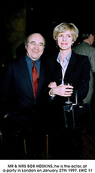 MR & MRS BOB HOSKINS, he is the actor, at a party in London on January 27th 1997.LWC 11