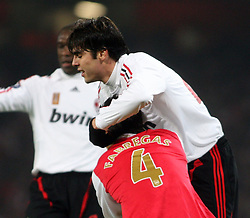 LONDON, ENGLAND - Wednesday, February 20, 2008 : Arsenal's CescFDAbregas in action against AC Milan's Kaka during the UEFA Champions 1st Knockout Round, 1st Leg match at The Emirates Stadium. (Photo by Chris Ratcliffe/Propaganda)