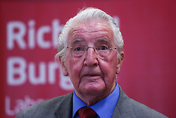 April 29, 2017 - Leeds, West Yorkshire, UK - Leeds, UK. Veteran Labour speaks at the launch of Leeds East MP Richard Burgon's campaign to get re-elected at a rally in Crossgates, Leeds. (Credit Image: © Ian Hinchliffe/London News Pictures via ZUMA Wire)