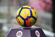 match ball during the Premier League match between Stoke City and Manchester City at the Bet365 Stadium, Stoke-on-Trent, England on 12 March 2018. Picture by Graham Holt.
