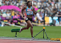 Athletics - 2017 IAAF London World Athletics Championships - Day Three, Morning Session<br /> <br /> 400m Women - Round One<br /> <br /> Amantle Montsho (Botswana) sprints down the home straight and  qualifies for the next round at the London Stadium <br /> <br /> <br /> COLORSPORT/DANIEL BEARHAM