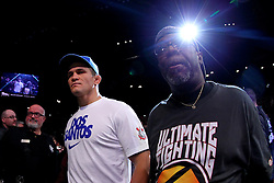 Las Vegas, NV - December 29, 2012: UFC Heavyweight Champion Junior Dos Santos walks to the octagon for his bout against challenger Cain Velasquez at UFC 155 at MGM Grand Garden Arena in Las Vegas, Nevada.