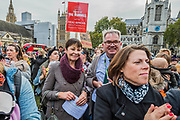 Caroline Lucas, MP, lends her support - The March of the Mummies organised by Pregnant then Screwed to highlight discrimination in the workplace against women who have children.