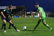 Forest Green Rovers Liam Shephard(2) on the ball during the EFL Sky Bet League 2 match between Forest Green Rovers and Plymouth Argyle at the New Lawn, Forest Green, United Kingdom on 16 November 2019.