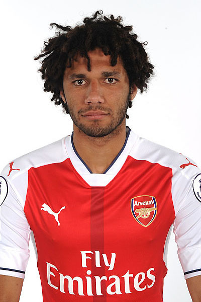 ST ALBANS, ENGLAND - AUGUST 03: (EXCLUSIVE COVERAGE)  Mohamed Elneny of Arsenal at the 1st team photocall at London Colney on August 3, 2016 in St Albans, England.  (Photo by Stuart MacFarlane/Arsenal FC via Getty Images)