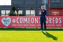 Bristol City Women's Manager Tanya Oxtoby receives LMA Managers Manager of the Month for September 2018 in front of the Yeo Valley Advert - Ryan Hiscott/JMP - 04/10/2018 - FOOTBALL - Stoke Gifford Stadium - Bristol, England - Tanya Oxtoby receives Managers Manager of the Month for September 2018