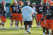 Copyright David Richard<br />Cleveland Browns head coach Romeo Crennel at training camp in Berea, Ohio.
