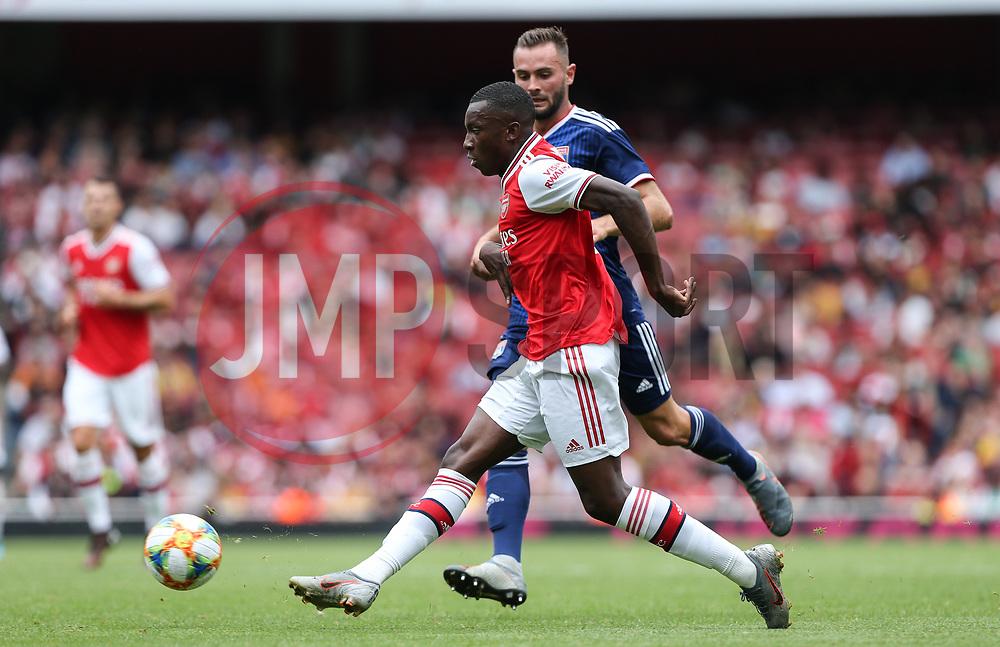 Edward Nketiah of Arsenal shoots - Mandatory by-line: Arron Gent/JMP - 28/07/2019 - FOOTBALL - Emirates Stadium - London, England - Arsenal v Olympique Lyonnais - Emirates Cup
