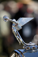 PEBBLE BEACH, CA - AUGUST 19: The hood ornament of a 1928 Isotta Fraschini Tipo 8A SS at the 2007 Pebble Beach Concours d'Elegance on August 19, 2007 in Pebble Beach, California.  (Photo by David Paul Morris)