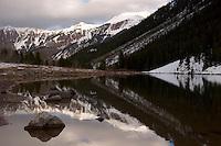 Maroon Lake Winter Reflection, Maroon - Snowmass Wilderness, Colorado