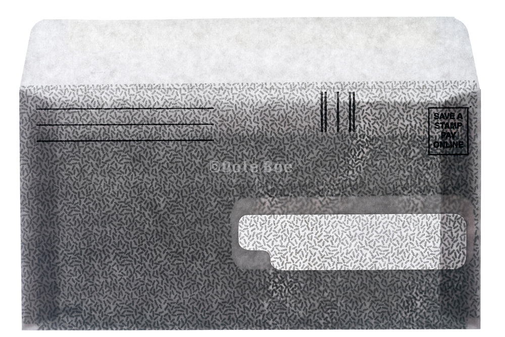 an open security return payment envelope