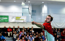 Alex Lane of Bristol Jets in action during the mixed doubles - Photo mandatory by-line: Robbie Stephenson/JMP - 06/02/2017 - BADMINTON - SGS Wise Arena - Bristol, England - Bristol Jets v Surrey Smashers - AJ Bell National Badminton League