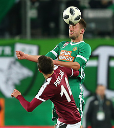 09.12.2017, Allianz Stadion, Wien, AUT, 1. FBL, SK Rapid Wien vs SV Mattersburg, 19. Runde, im Bild Smail Prevljak (SV Mattersburg) und Philipp Prosenik (SK Rapid Wien) // during Austrian Football Bundesliga Match, 19th Round, between SK Rapid Vienna and SV Mattersburg at the Allianz Arena, Vienna, Austria on 2017/12/09. EXPA Pictures © 2017, PhotoCredit: EXPA/ Thomas Haumer
