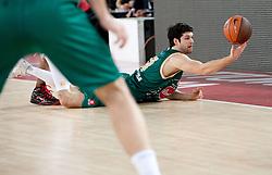 Saso Ozbolt (31) of Olimpija during Euroleague Top 16 basketball match between Lottomatica Virtus Roma (ITA) and KK Union Olimpija Ljubljana (SLO) in Group F, on January 20, 2011 in Arena PalaLottomatica, Rome, Italy. (Photo By Vid Ponikvar / Sportida.com)