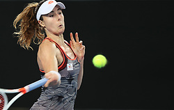 MELBOURNE, Jan. 17, 2019  Alize Cornet of France returns the ball during the women's singles second round match against Venus Williams of the United States at the Australian Open in Melbourne, Australia, Jan. 17, 2019. (Credit Image: © Bai Xuefei/Xinhua via ZUMA Wire)