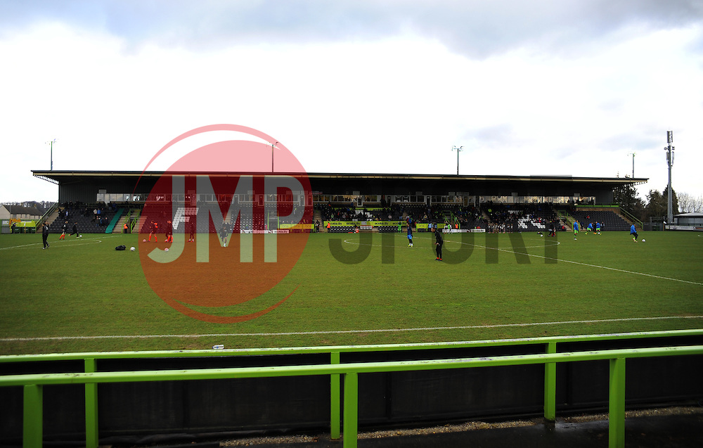 The New Lawn - Photo mandatory by-line: Nizaam Jones/JMP - Mobile: 07966 386802 - 31/01/2015 - SPORT - Football - Nailsworth - The New Lawn - Forest Green Rovers v Nuneaton Town - Vanarama-Conference