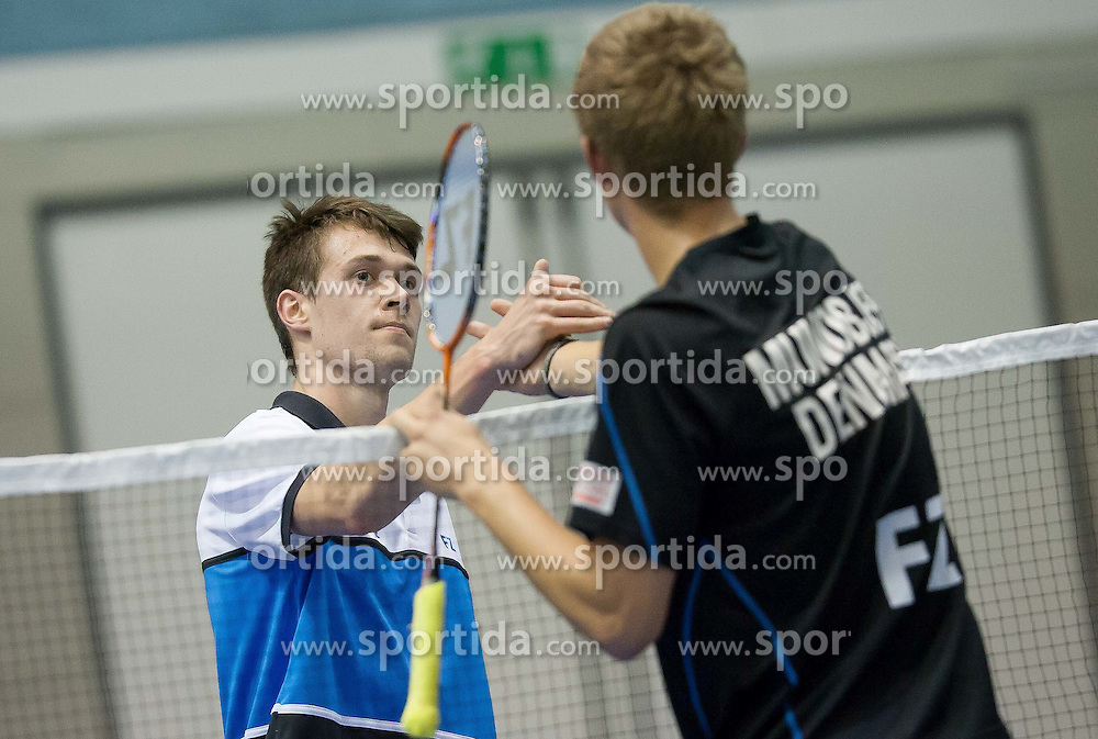 Kek Jamnik of Slovenia during Slovenia Open Badminton tournament 2012, on May 10, 2012, in Medvode, Slovenia. (Photo by Grega Valancic / Sportida.com)
