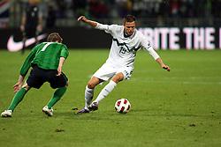 during the Euro 2012 qualifying soccer match between National teams of Slovenia and Northern Ireland, on September 3, 2010 in Stadium Ljudski vrt, Maribor, Slovenia. (Photo by Marjan Kelner / Sportida)
