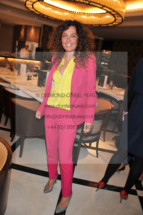 TARA SMITH at a lunch to launch Cash & Rocket on Tour 2013 hosted by Julia Brangstrup in aid of Orpan Aid and Shine on Sierrra Leone held at Banca, 40 North Audley Street, London on 29th April 2013.