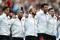 Chris Robshaw of England sings the national anthem - Mandatory byline: Patrick Khachfe/JMP - 07966 386802 - 11/11/2017 - RUGBY UNION - Twickenham Stadium - London, England - England v Argentina - Old Mutual Wealth Series International