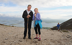 from Charlestown taking part in the annual pilgrimage to Croagh Patrick yesterday<br /> Pic Conor McKeown