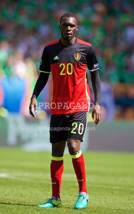 BORDEAUX, FRANCE - Saturday, June 18, 2016: Belgium's Christian Benteke in action against the Republic of Ireland during the UEFA Euro 2016 Championship Group E match at Stade de Bordeaux. (Pic by Paul Greenwood/Propaganda)