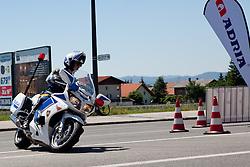 Policeman at prologue (17,8km) of Tour de Slovenie 2012, on June 17 2012, in Ljubljana, Slovenia. (Photo by Matic Klansek Velej / Sportida.com)