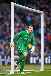 MANCHESTER, ENGLAND - Saturday, November 28, 2009: Manchester City's goalkeeper Shay Given in action against Hull City during the Premiership match at the City of Manchester Stadium. (Photo by David Rawcliffe/Propaganda)