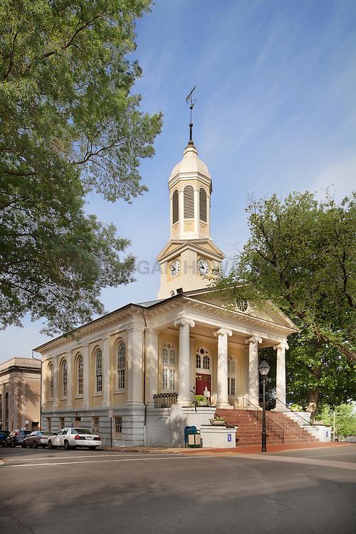 Warrenton, Virginia town center main Street church steeple