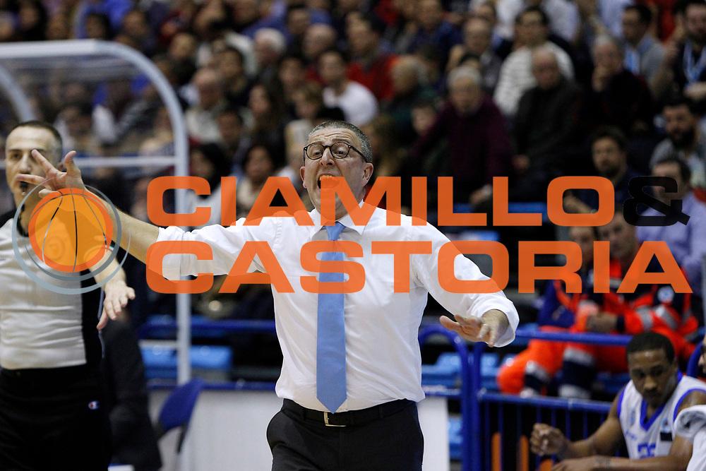 DESCRIZIONE : Capo dOrlando Lega A 2014-15 Orlandina UPEA Basket Consultinvest Pesaro  <br /> GIOCATORE :  Giulio Griccioli<br /> CATEGORIA :  Head Coach <br /> SQUADRA : Orlandina UPEA Basket Consultinvest Pesaro <br /> EVENTO : Campionato Lega A 2014-2015 <br /> GARA : Orlandina UPEA Basket  Consultinvest Pesaro <br /> DATA : 15/03/2015 <br /> SPORT : Pallacanestro <br /> AUTORE : Agenzia Ciamillo-Castoria/G. Pappalardo <br /> Galleria : Lega Basket A 2014-2015 <br /> Fotonotizia : Capo dOrlando Lega A 2014-15 Orlandina UPEA Basket Consultinvest Pesaro