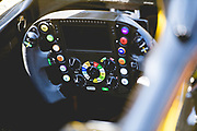 May 23-27, 2018: Monaco Grand Prix. Renault Sport Formula One Team, R.S. 18 steering wheel detail