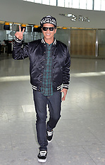 FEB 20 2014  Bruno Mars departs Heathrow Airport