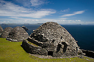 Beehive huts on Skellig Michael, County Kerry, Ireland
