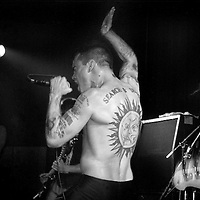 Punk rock icon Henry Rollins performs with the Rollins Band  in Cleveland, OH on March 19, 1990. Rollins is a pioneer in the American punk movement fronting bands such as Black Flag, SOA and Rollins Band.