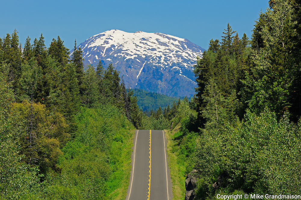 Stewart Cassiar Highway and mountains<br /> Stewart Cassiar Highway<br /> British Columbia<br /> Canada