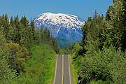 Stewart Cassiar Highway and mountains<br /> Stewart Cassiar Highway<br /> British Columbia<br /> Canada