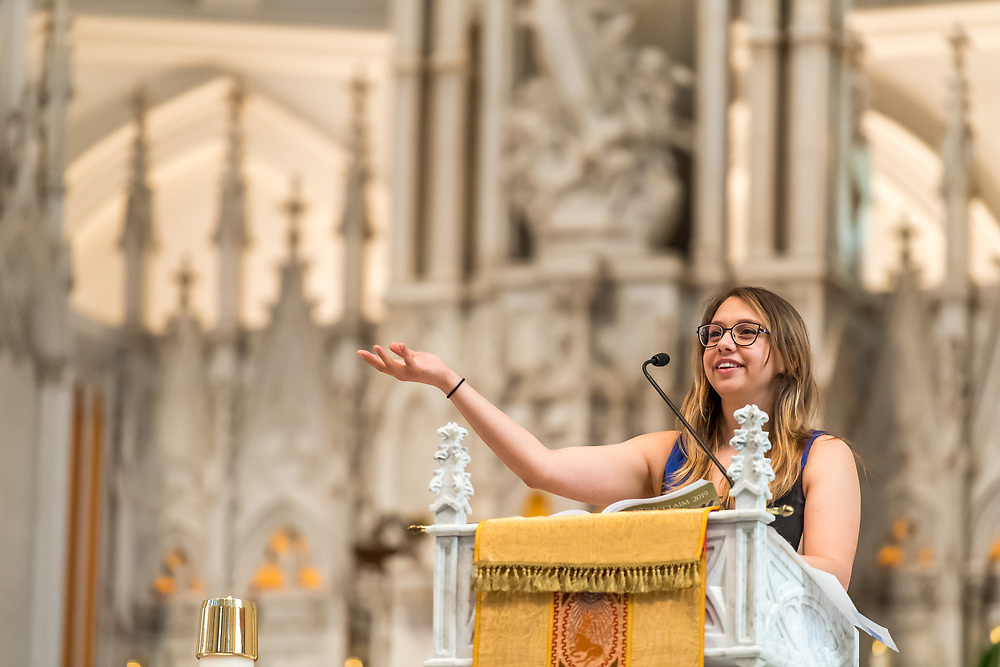 DENVER, CO - APRIL 21: Easter Mass celebration at the Cathedral Basilica of the Immaculate Conception on April 21, 2019, in Denver, Colorado. (Photo by Daniel Petty)