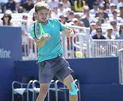 September 4, 2017 - New York, New York, United States - David Goffin of Belgium returns ball during match against Andrey Rublev of Russia at US Open Championships at Billie Jean King National Tennis Center (Credit Image: © Lev Radin/Pacific Press via ZUMA Wire)