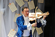 Prima La Musica<br /> Opera At Home Ensemble<br /> at The Arcola Theatre, London, Great Britain <br /> 25th August 2011 <br /> Rehearsal <br /> Grimeborn The Opera Festival<br /> directed by Jose Manuel Gandia<br /> <br /> Victor Sgarbi (as Maestro)<br /> <br /> Photograph by Elliott Franks