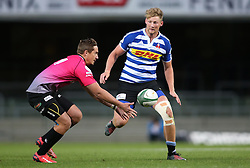 Robert du Preez of Western Province closes in on Heinrich Steyl of the Pumas during the Currie Cup Premier Division match between the DHL Western Province and the Pumas held at the DHL Newlands rugby stadium in Cape Town, South Africa on the 17th September  2016<br /> <br /> Photo by: Shaun Roy / RealTime Images