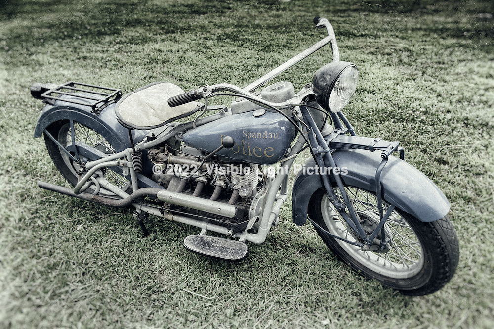 Vintage Spandau Police Motorcycle at the Old Rhinebeck Aerodrome