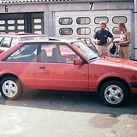 Ford Stand, Hockenheim test day, pre IAA Frankfurt Motor Show 1981