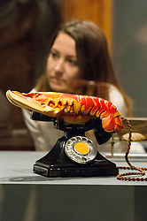 © Licensed to London News Pictures. 03/10/2017. London, UK. Sculpture titled Lobster Telephone, 1938, by  Salvador Dali is showing as part of the Dali/Duchamp exhibition showing at the Royal Academy. Photo credit: Ray Tang/LNP. Note editorial usage only. No merchandise usage or social media