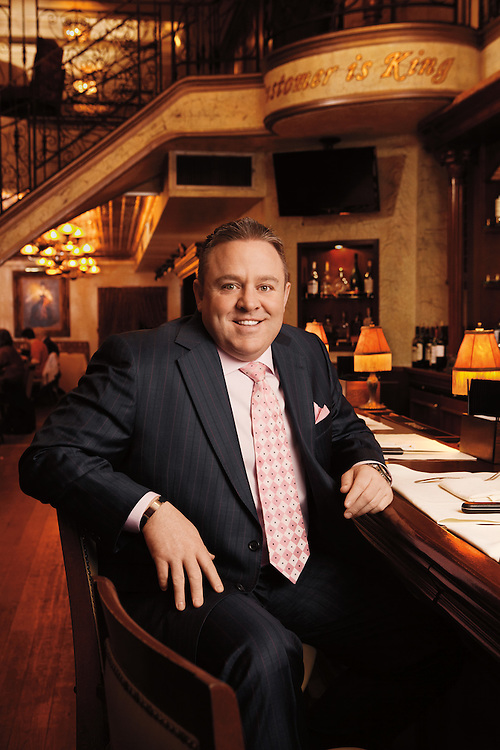 Advertising Image of Celebrity Chef Willie Degel at New York's Uncle Jack's Steakhouse for Food Network by Michel Leroy PHOTOGRAPHER