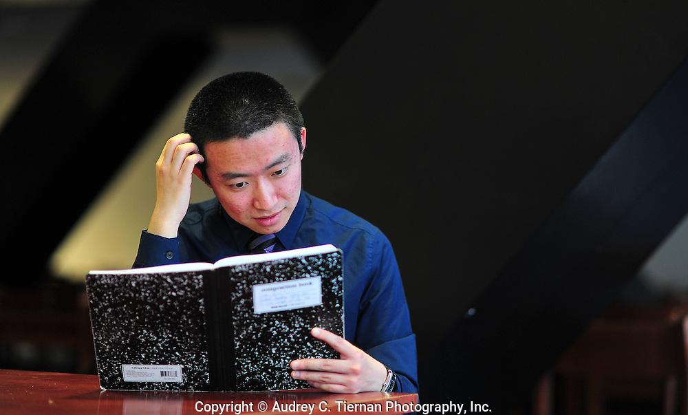 NEW YORK, NY:  Saturday, April 16, 2011-- Jian Liu, a graduating senior at The City College of New York, has won a Math for America Fellowship.   © Audrey C. Tiernan