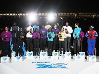 Friidrett<br /> Foto: imago/Digitalsport<br /> NORWAY ONLY<br /> <br /> 27.08.2010<br /> <br /> Diamond League in Brüssel, van Damme Memorial, Vinnerene i årets Diamond League i de øvelsene som hadde finale i Brussel.<br /> Andreas Thorkildsen vinner i spyd
