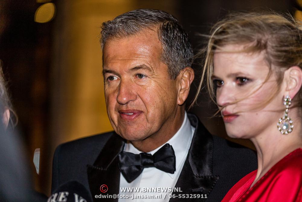 NLD/Amsterdam//20170309 - 5 jarig bestaan Vogue, Lara Stone en Mario Testino