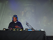 Uncle Ralph McDaniels spins at Celebrate Brooklyn in conjunction with The Lyricist Lounge held at The Brooklyn Bandshell in Prospect Park Brooklyn on August 8, 2009